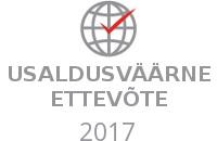 Usaldusväärne ettevõte 2017 märk 2